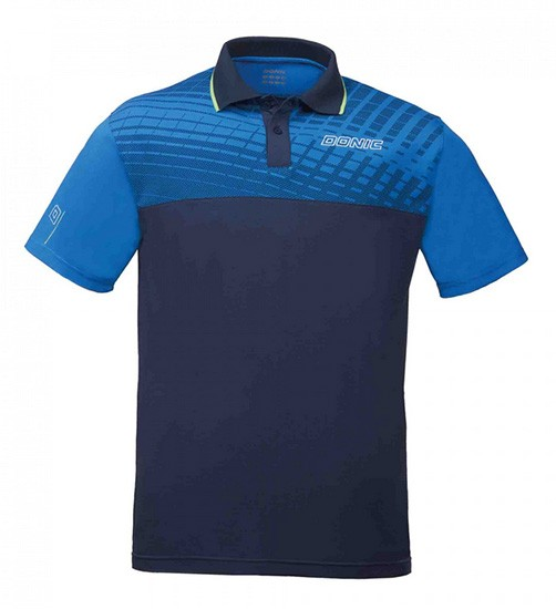 DONIC Polo-Shirt Makroflex, royal, 2XS